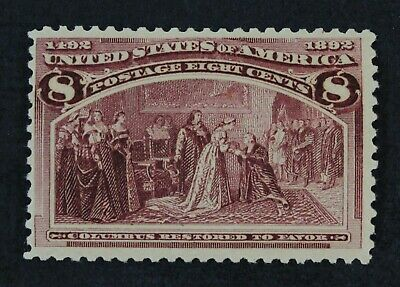 CKStamps: US Stamps Collection Scott#236 8c Columbian Mint NH OG CV$160