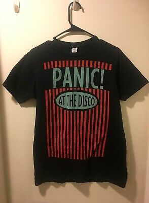 7a108f67325 VINTAGE PANIC AT The Disco T Shirt Size Youth Large L 14-16 Pre ...