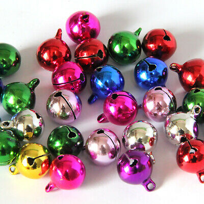 50pcs 6mm Mixed Color Metal Jingle Tinkle Bell Xmas Party Pendant DIY Craft New