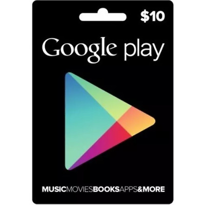 Google Play Gift Card 10 USD NORTH AMERICA (Email Delivery)