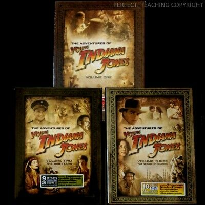 The Adventures of Young Indiana Jones: Complete TV Series Vol 1 2 3 Box/DVD Sets