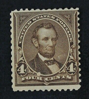 CKStamps: US Stamps Collection Scott#269 4c Lincoln Mint H OG Gum Bend Thin