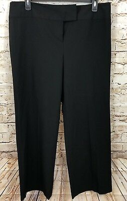 Style & Co black pants womens 18 wide leg sophia new relaxed stretch L4