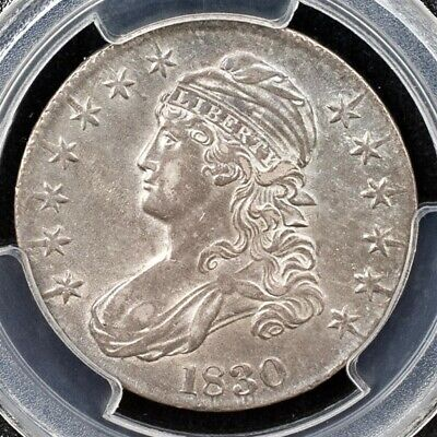 1830 Capped Bust Half Dollar, Overton O-116 - PCGS AU50 - Small 0