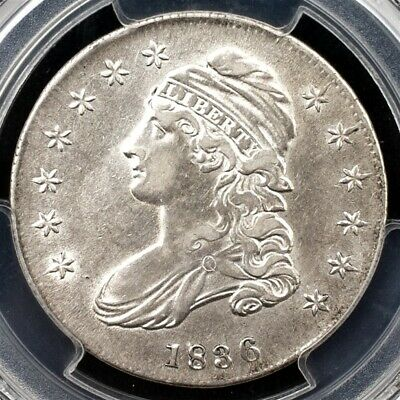 1836 Capped Bust Half Dollar, Overton O-102 - PCGS AU50 - Lettered Edge