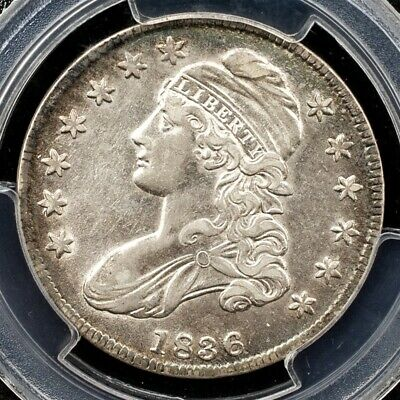 1836 Capped Bust Half Dollar, Overton O-115 - PCGS AU50 - Lettered Edge