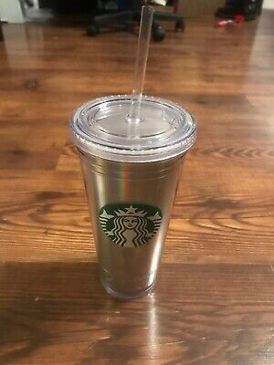 223fbf7ccb5 Starbucks Holiday 2018 Rainbow Iridescent Holographic Tumbler 20oz BRAND NEW
