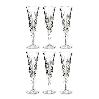 Marquis by Waterford Newberry Set of Six Crystalline Glasses Flute