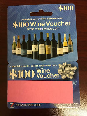 $100 Voucher Naked Wines Get $100 off a $160 order Fast Free Shipping