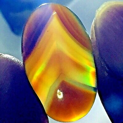 13ct AAA Rainbow IRIS AGATE ~Multi-Color Fire ~Natural Pyramid PATTERN picture~