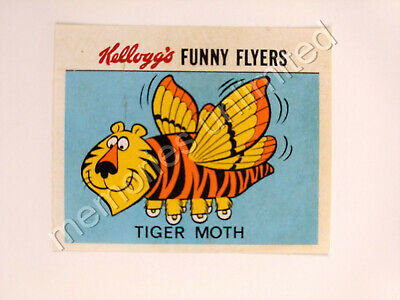 1972 Kellogg's Cereal Prize FUNNY FLYERS STICKER TIGER MOTH