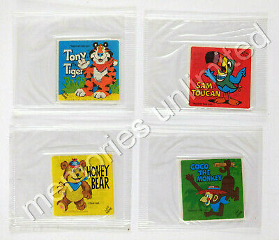 1983 Kellogg's Cereal Prize LITTLE GOLDEN BOOKS INSTANT WIN CHARACTERS SET OF 4