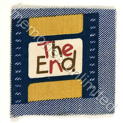 1977 Nabisco Cereal Prize STITCH-'EMS SEW ON PATCH 'THE END'