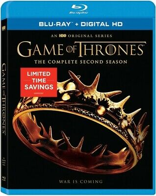 Game Of Thrones: Season 2 - 5 DISC SET (2017, Blu-ray New)