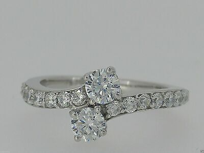 Certified 1.80Ct Round White Diamond Engagement Ring in Solid 14K White Gold