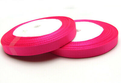 """Free shipping 3/8"""" 25Yards Solid color Satin Ribbon  For Wedding Party Rose"""