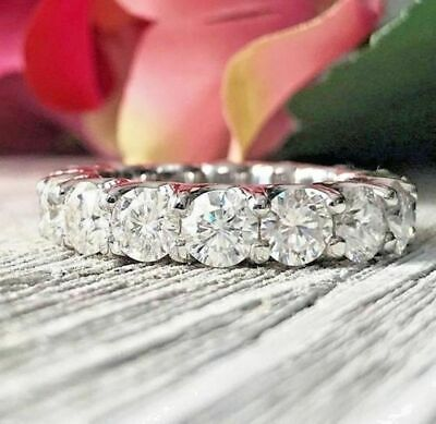 Certified 3.37Ct White Round Diamond Engagement Ring in Solid 14K White Gold