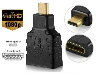 HDMI Type A Female to Micro HDMI D Male converter Adapter Connector HDTV