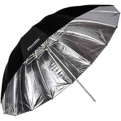 Phottix 182 cm Para-Pro Reflective Umbrella (Silver/Black)