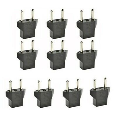 10Pcs American USA to European Outlet Plug Adapter Converter Travel Adapter