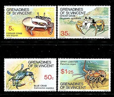 St Vincent Grenadines 119-122 MNH Marine Life Crabs and Lobsters 1977. x29287