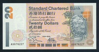 Hong Kong: STANDARD CHARTERED BANK 1-1-1995 $20. Pick 285b UNC