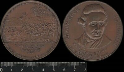 Australia 1970 Captain Cook, Killed by the Indians O'Why-Hee 1779, medal