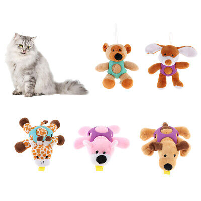 Cartoon Animals Dog Sound Toy Puppy Cat Chew Squeak Toys Plush & Rubber