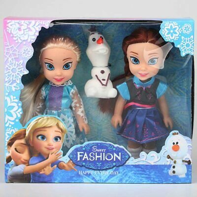 Disney Frozen Princess Elsa Anna Doll Ice and Snow Dolls Model Toys for Girls