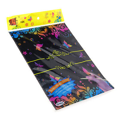 20 Sheet Magic Scratch Art Paper Coloring Cards Scraping Drawing with Stick
