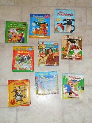 9 x Puzzlebuch Puzzle Buch Paket