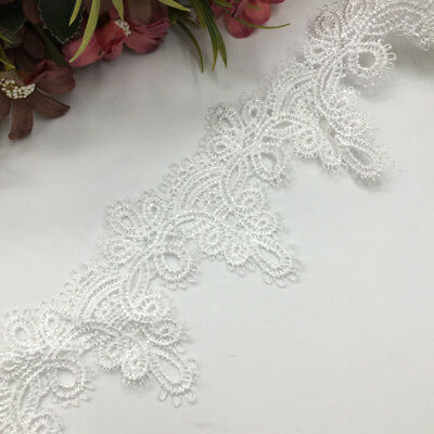 65cm Apparel Sewing Fabric Trim Crocheted Lace Fabric Ribbon DIY Crafts