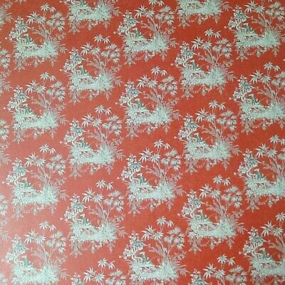 12th scale dolls house Oriental Wallpaper 3  sheets