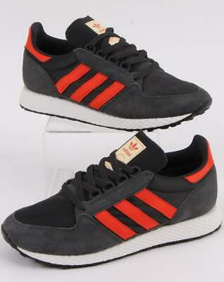 adidas Trainers Adidas Forest Grove Trainers Carbon/Orange