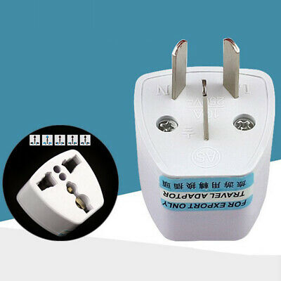 UK/US/EU Universal AU AC Power Plug Adapter Travel 3 pin Converter Australia