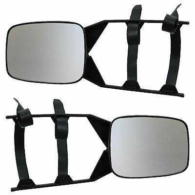 2 x Caravan Universal Adjustable Towing Mirror Extension Side Mirrors Cars Vans