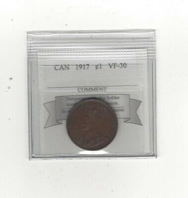 **1917**,Coin Mart Graded Canadian, Large One Cent, **VF-30**