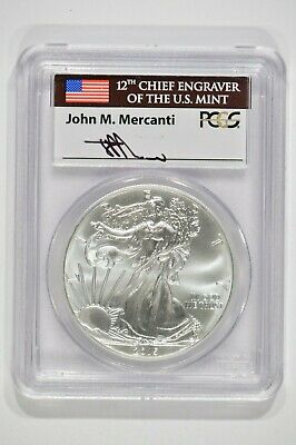 2015 American Silver Eagle $1 PCGS MS70 First Strike Mercanti Label 31797275