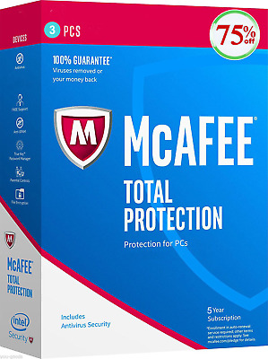 McAfee TOTAL PROTECTION 2019✔️3 Devices✔️ 5 Years✔️ EMAIL DELIVERY 📩