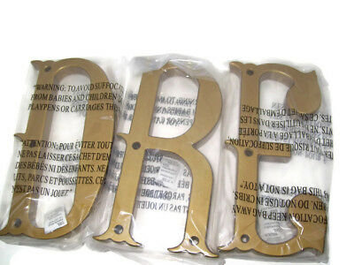 """Pottery Barn Kids """"Dream"""" Decorator Wall Letter Set Antique Gold Color Finish"""