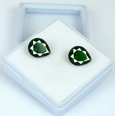 7.10 Ct Colombian Emerald Ring Size Gemstone Pair Natural Pear AGSL Certified
