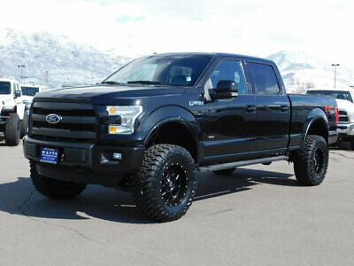 2015 Ford F-150 LARIAT FX4 LIFTED FORD CREW CAB LARIAT FX4 4X4 ECOBOOST CUSTOM WHEELS TIRES LEATHER ROOF