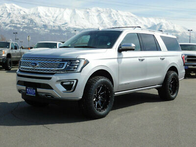 2019 Ford Expedition Max PLATINUM LIFTED EXPEDITION PLATINUM MAX 4X4 CUSTOM WHEELS TIRES LEATHER NAV PANO ROOF NEW