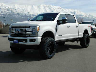 2018 Ford Super Duty F-350 PLATINUM FX4 LIFTED FORD CREW CAB PLATINUM 4X4 POWERSTROKE DIESEL CUSTOM WHEELS TIRES LEATHER