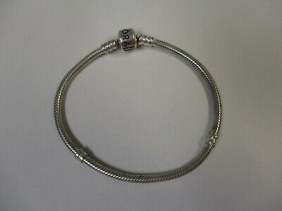 Authentic PANDORA Sterling Silver Starter Charm Bracelet Snap Barrel Clasp