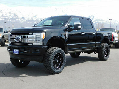 2018 Ford Super Duty F-350 PLATINUM LIFTED FORD CREW CAB PLATINUM 4X4 POWERSTROKE DIESEL CUSTOM WHEELS TIRES LEATHER