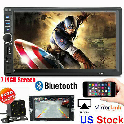 7 Inch DOUBLE 2DIN Car MP5 Player BT Tou+ch Screen Stereo Radio HD+Camera HD Chu