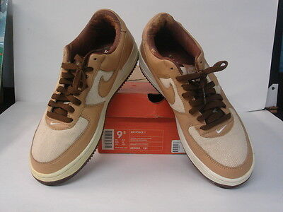 buy popular 8398a 90380 Nike Air Force 1 Natural Underbrush Acorn Brown White Black 624040-121 9.5