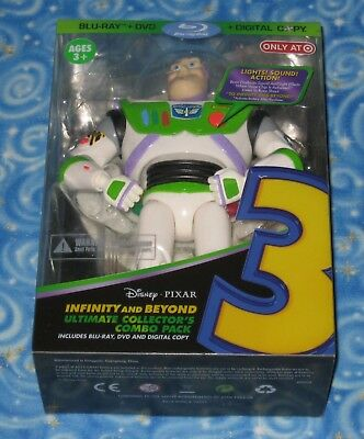 Disney Pixar Toy Story 3 Infinity and Beyond Collector Combo Pack BLU RAY DVD