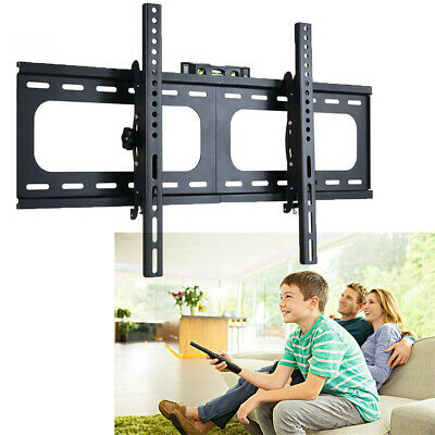 "32-75"" inch LCD LED Plasma TV XL Large Slim Tilt Wall Mount Bracket Up to 99lbs"